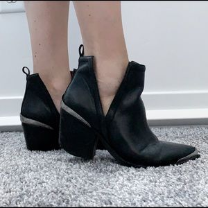 Jeffrey Campbell Cromwell Bootie Black Leather